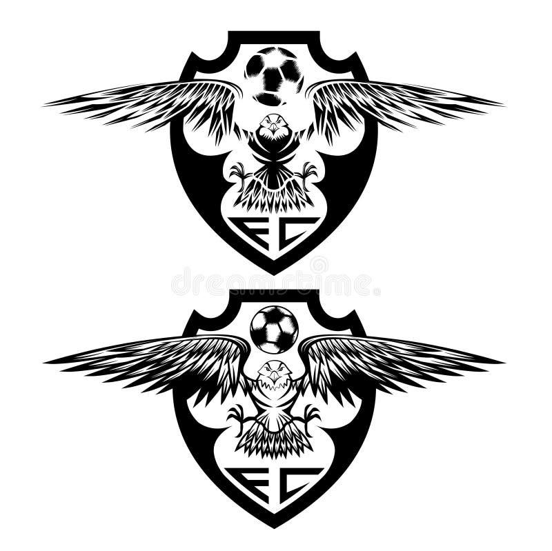 冠设置与老鹰传染媒介设计模板 皇族释放例证