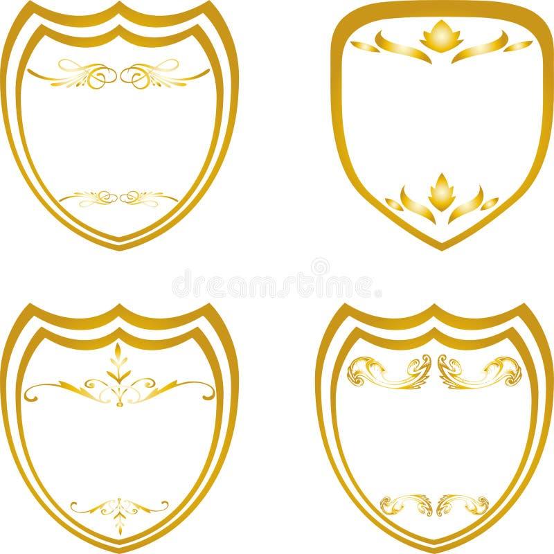 冠,盾,商标 向量例证