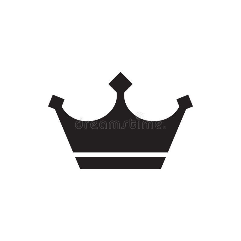 冠-在白色背景传染媒介例证的黑象 皇家概念标志 抽象剪影 设计要素图象例证向量 向量例证