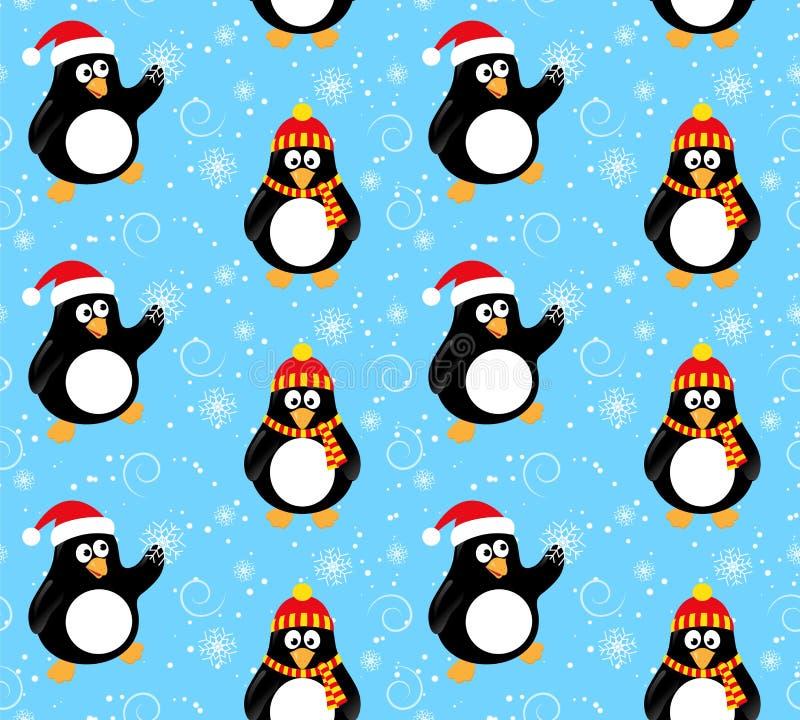 冬天企鹅样式 图库摄影