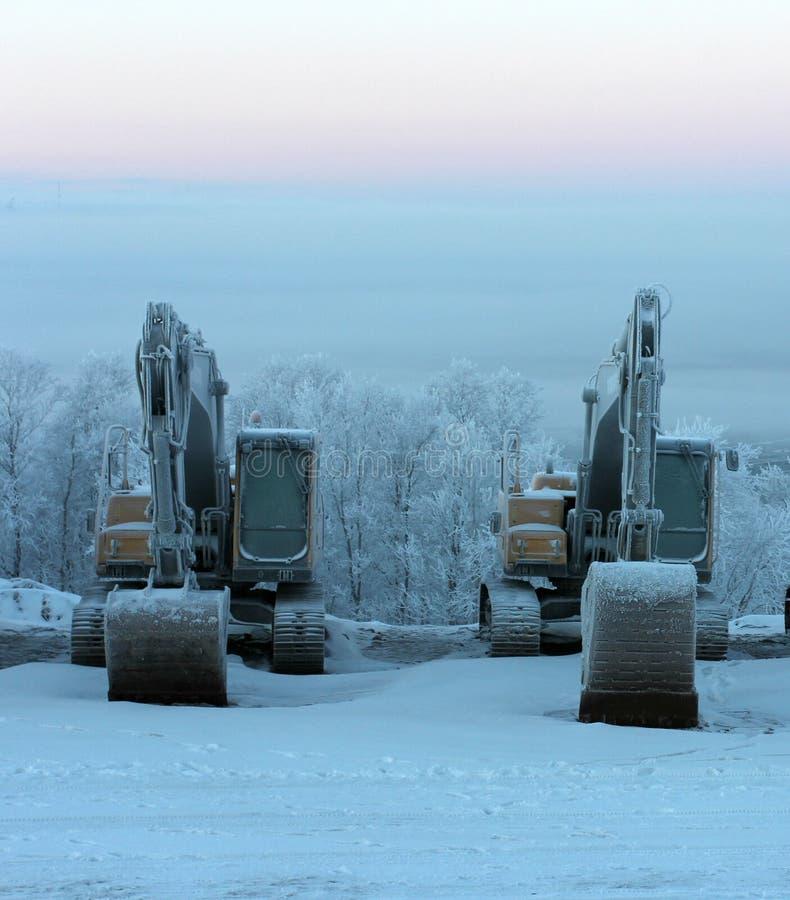 冬天休息在工作以后 免版税库存照片