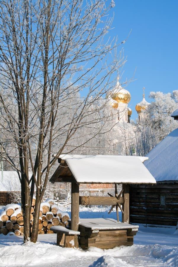 冬天俄国人国家(地区) 免版税库存照片