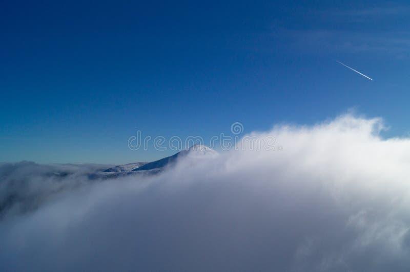 冬天冒险 山顶 carpathians 乌克兰 库存图片