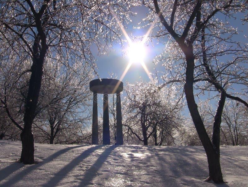 冬天冰 图库摄影