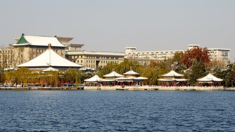 冬天北海公园全景,北京 免版税图库摄影