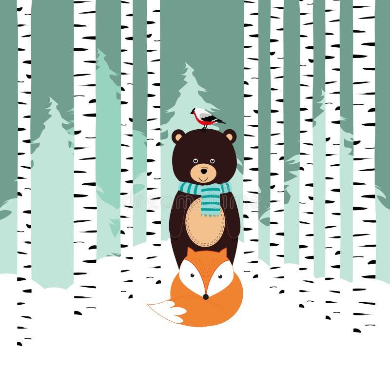 冬天卡片 向量例证