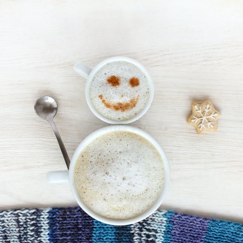 冬天咖啡休息的好心情 图库摄影