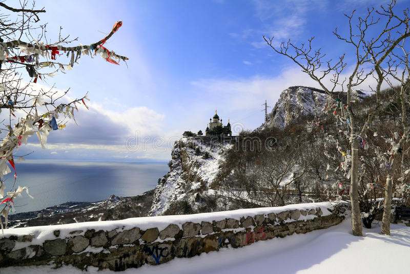 冬天在克里米亚 免版税库存图片