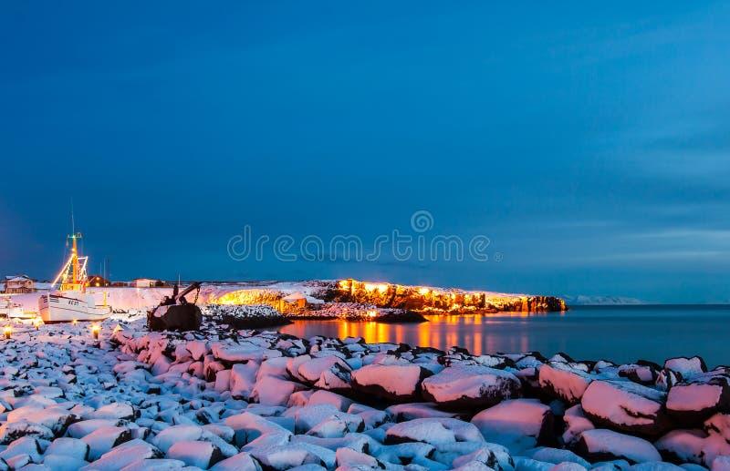 冬天在冰岛 免版税库存图片