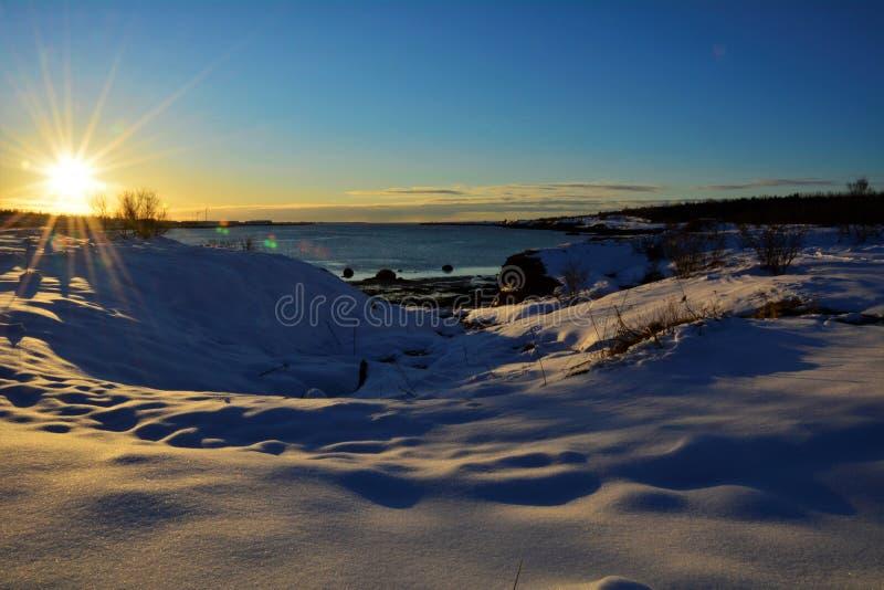 冬天在冰岛 免版税库存照片