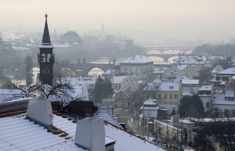 冬天在布拉格 免版税库存图片