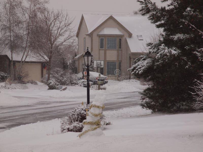 冬天在苏克塞斯,WI 免版税库存图片