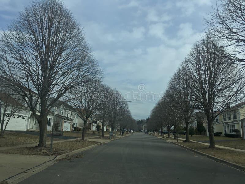 冬天在邻里 库存照片