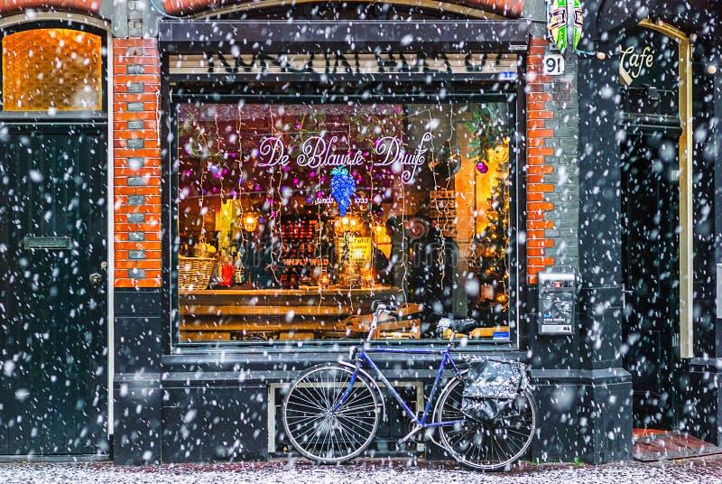 冬天在阿姆斯特丹 库存照片