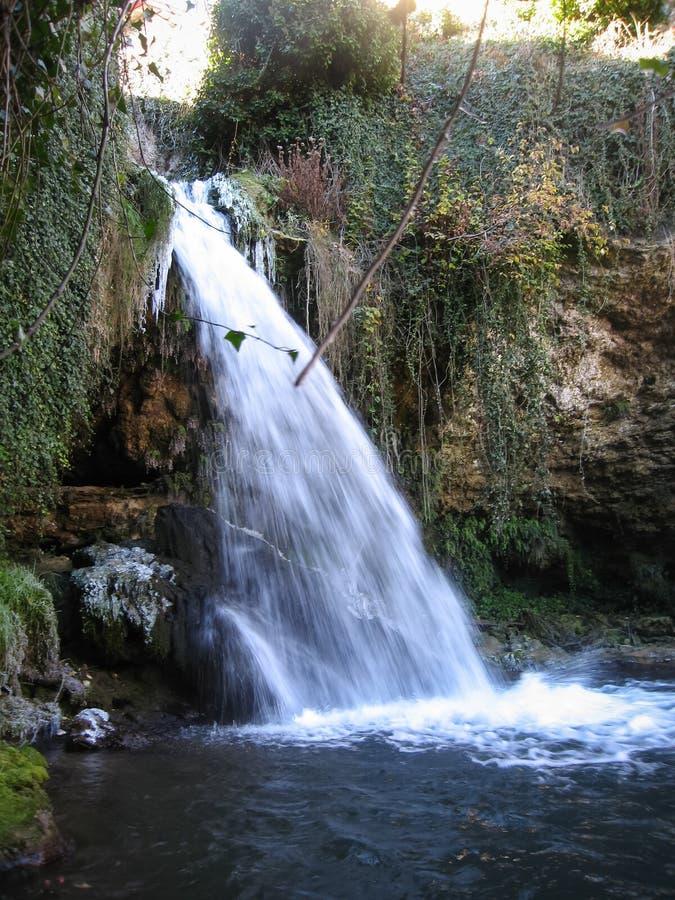 冬天在Tobera,布尔戈斯,卡斯蒂利亚y利昂,西班牙 免版税库存图片