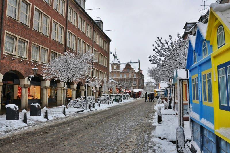 冬天城市生活 库存图片