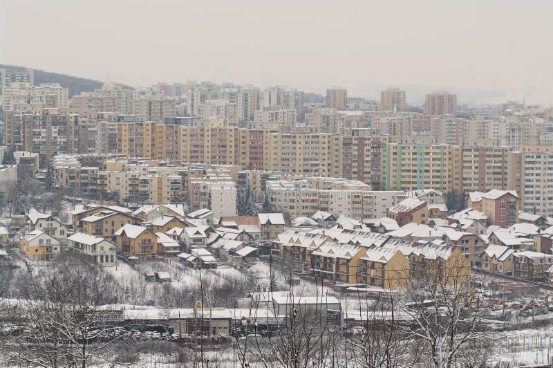 冬天城市 免版税图库摄影
