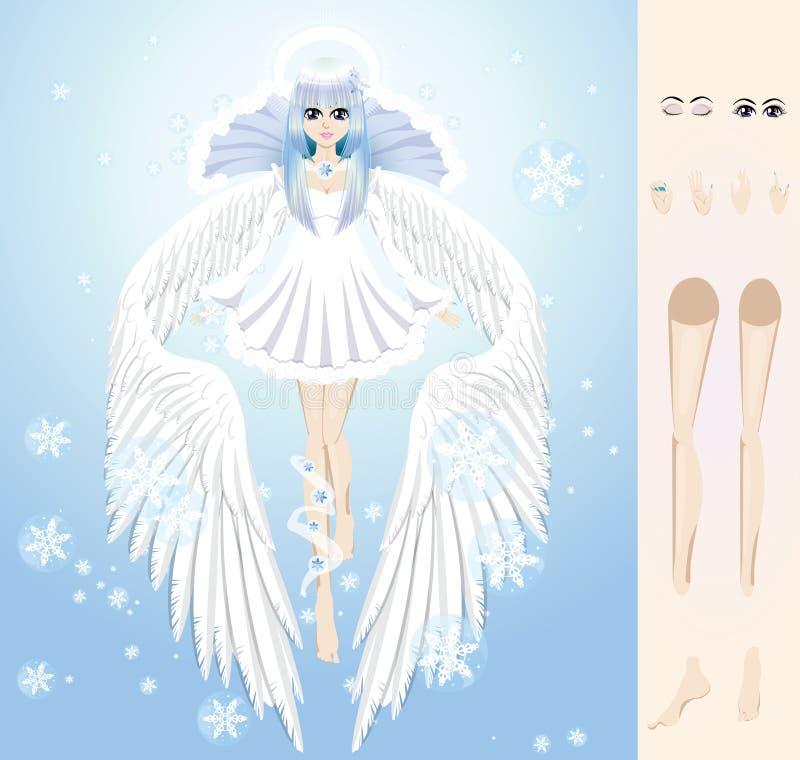 冬天天使  向量例证