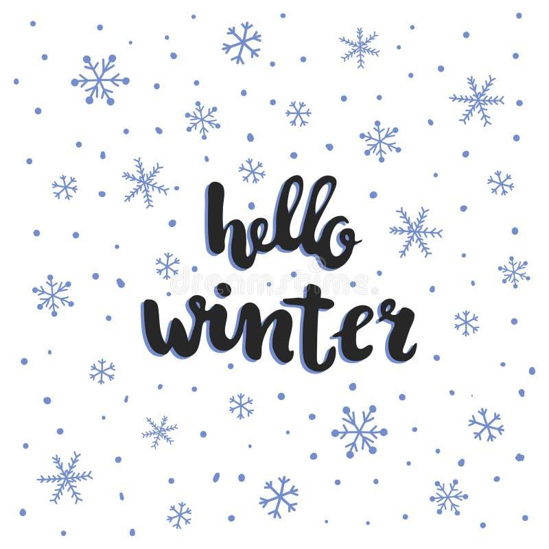 冬天字法 向量例证