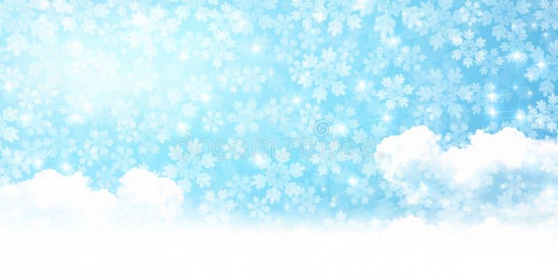 冬天季节的例证 免版税库存图片