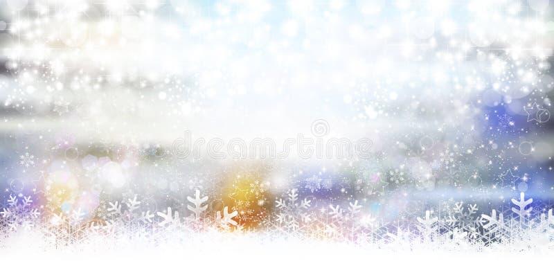 冬天季节的例证 免版税库存照片