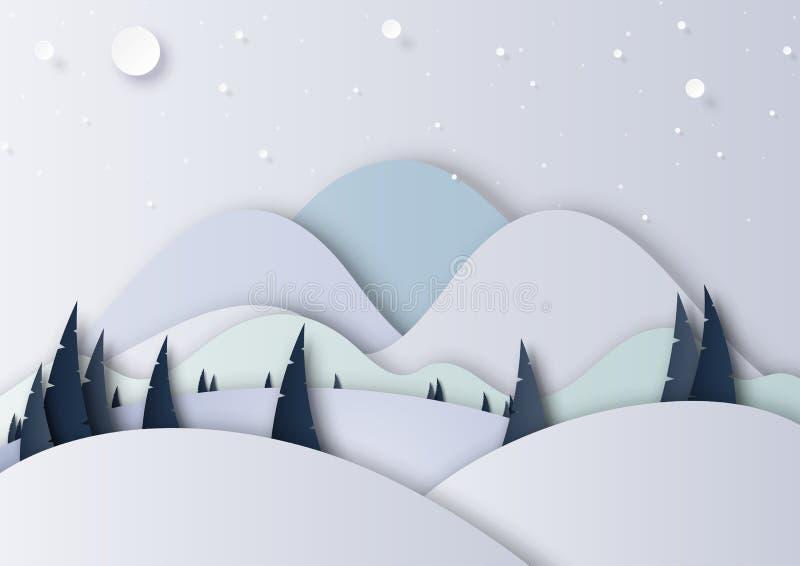 冬天季节风景背景资料艺术样式 皇族释放例证