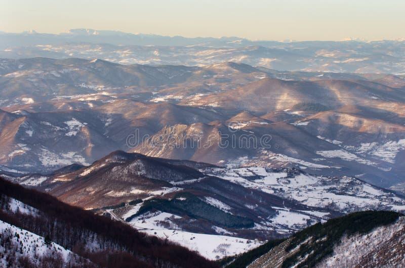 冬天山风景 免版税图库摄影