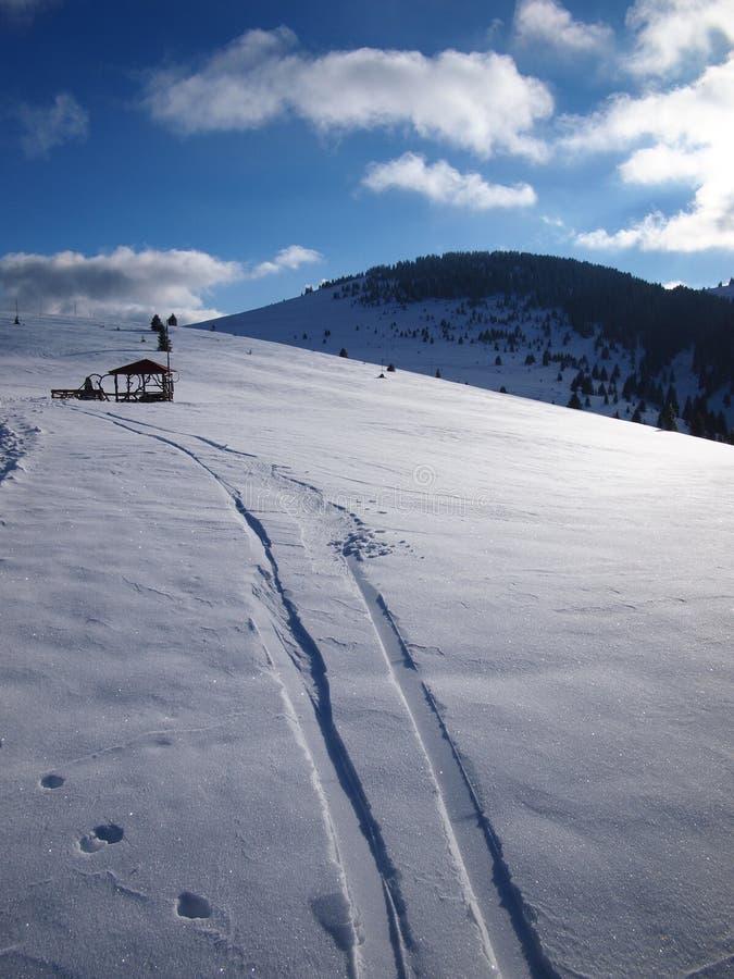 冬天山 免版税图库摄影