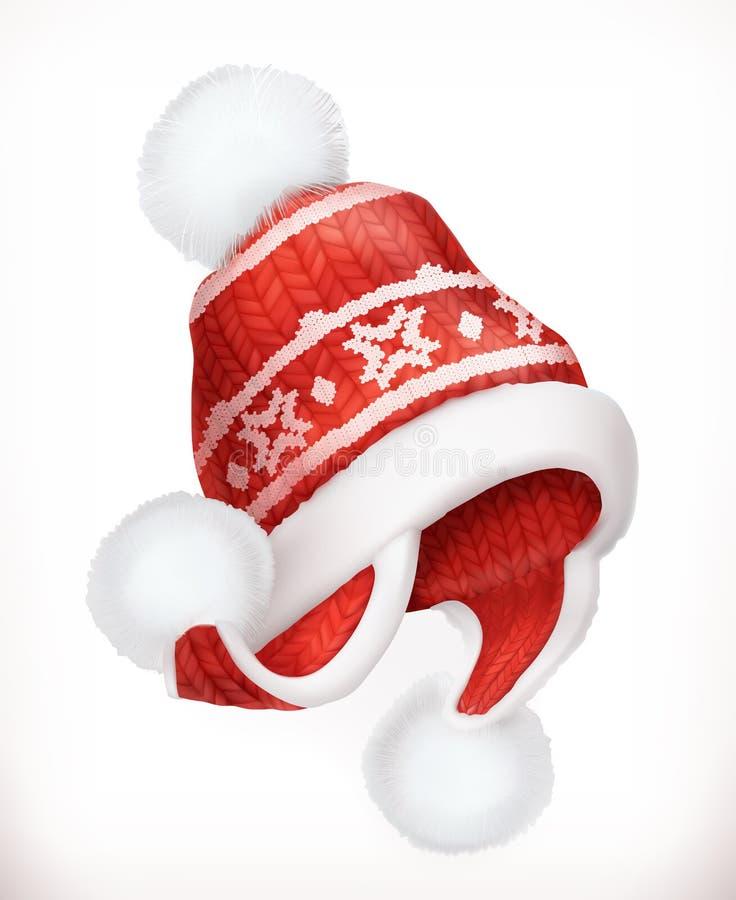 冬天帽子 适应图标 库存例证