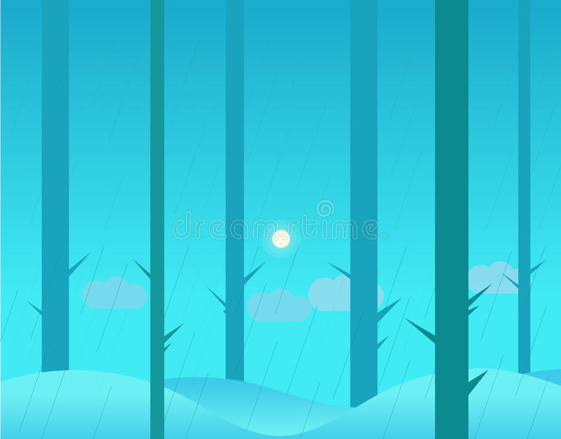 冬天或秋天森林墙纸风景和 皇族释放例证