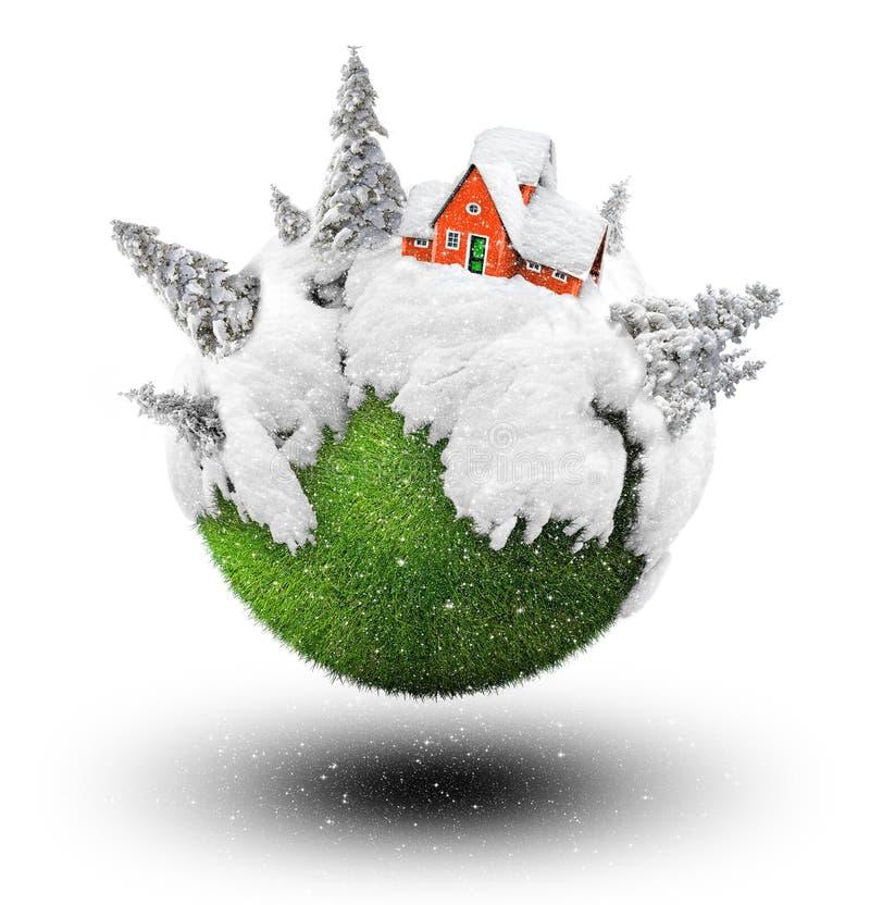 冬天房子 向量例证