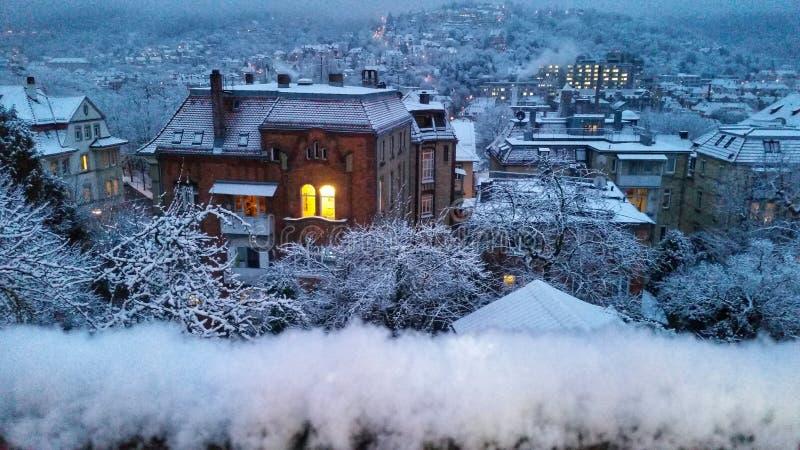 冬天房子 图库摄影