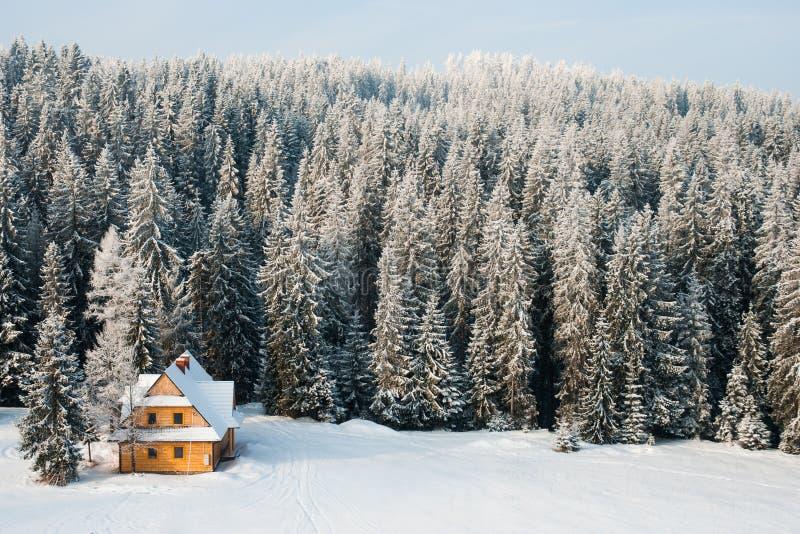 冬天房子 库存图片