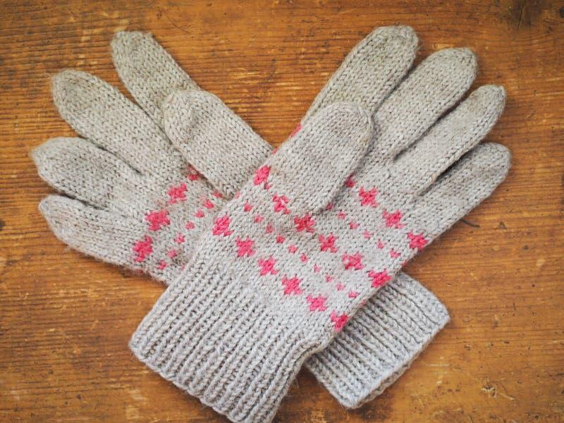 冬天手套 免版税库存图片