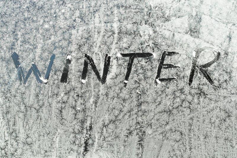冬天文本 库存图片