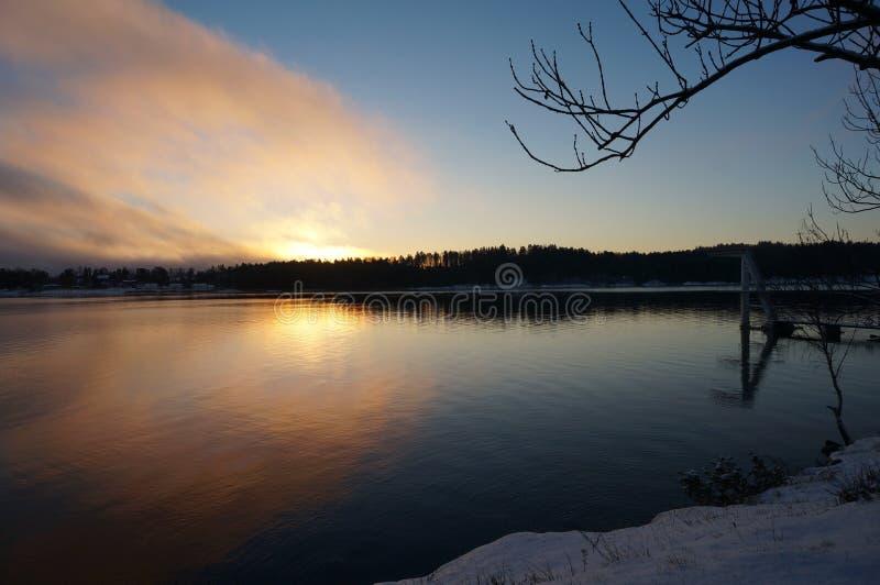 冬天日出 图库摄影