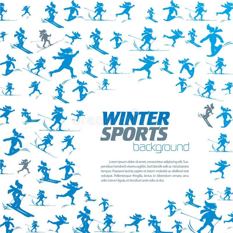 冬天极端体育样式 向量例证