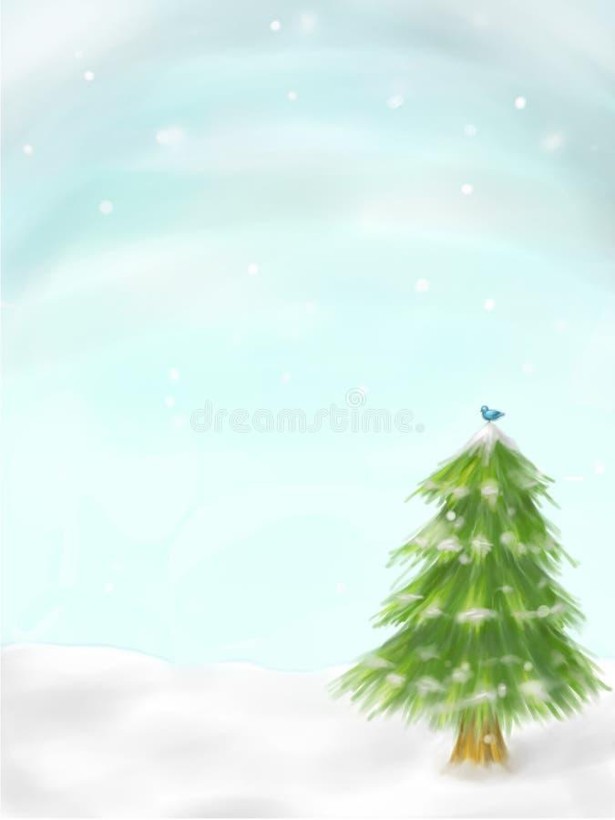 冬天树场面 库存照片