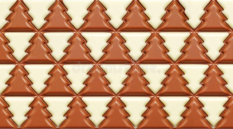 冬天树巧克力 免版税库存照片