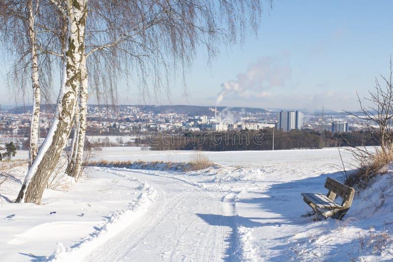 冬天横向在巴伐利亚 免版税图库摄影