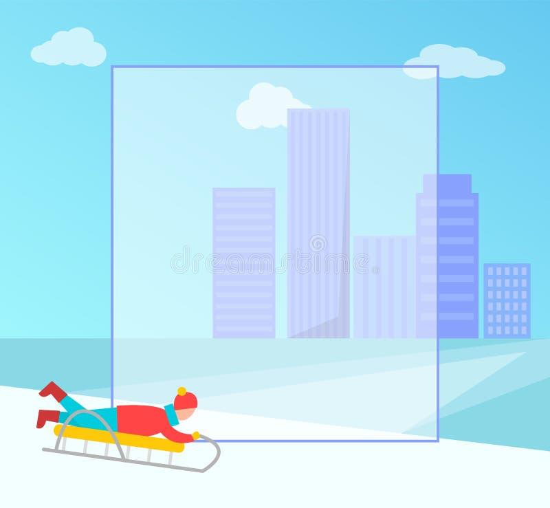 冬天横幅和填装的形式传染媒介例证 向量例证