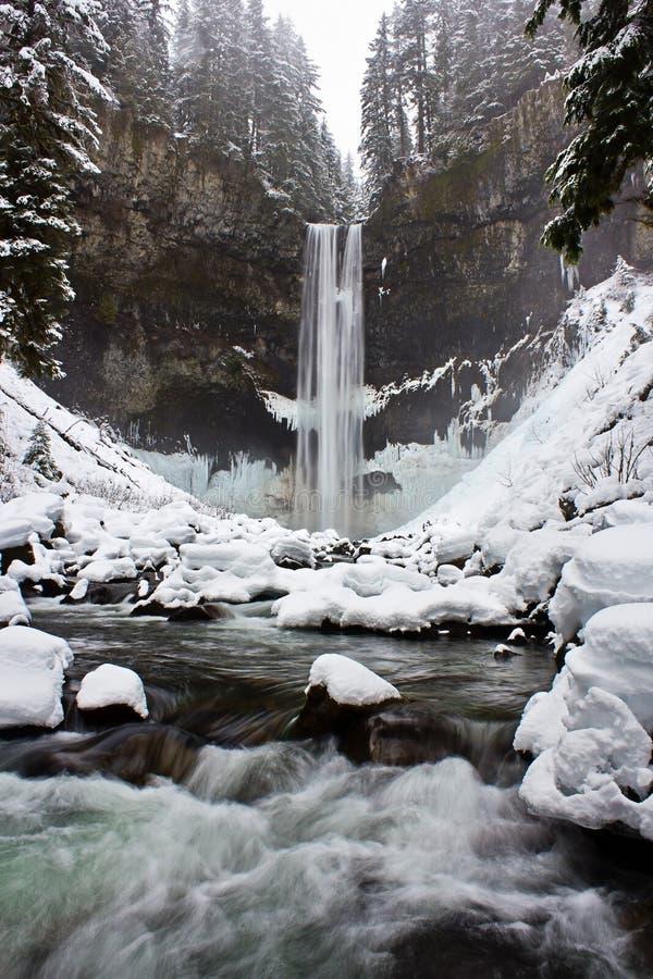 冬天瀑布 图库摄影