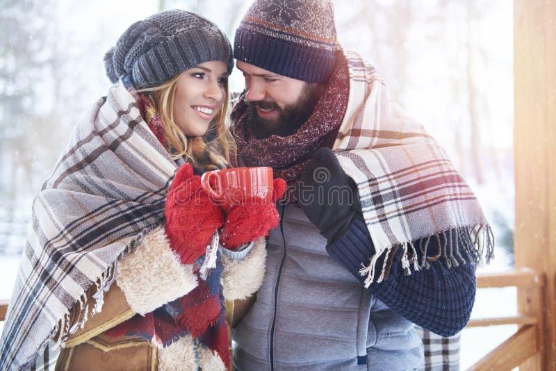 冬天爱 库存图片