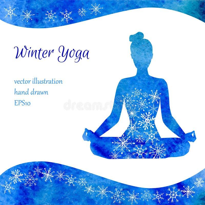 冬天瑜伽传染媒介例证 皇族释放例证