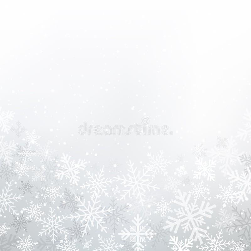 冬天白色背景圣诞节由雪花和雪wi做成 皇族释放例证