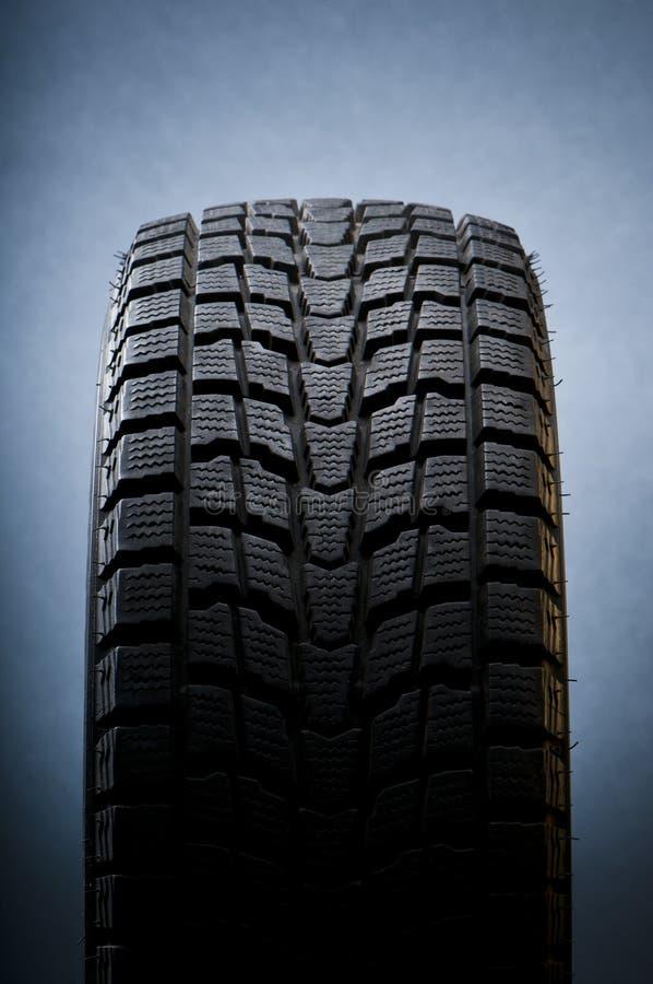 冬天的接近的详细资料轮胎 免版税库存图片