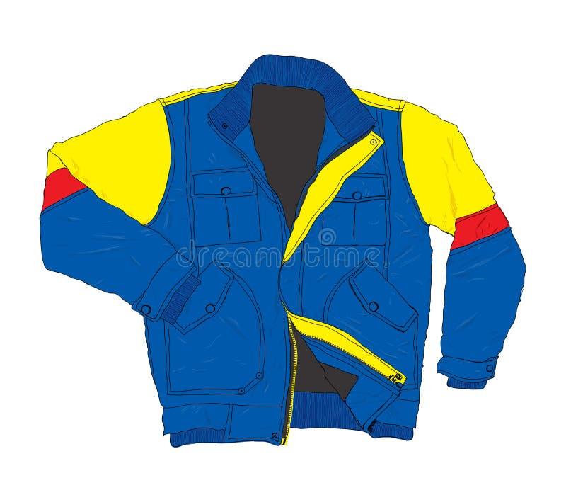 冬天穿戴时尚-偶然夹克传染媒介例证 皇族释放例证