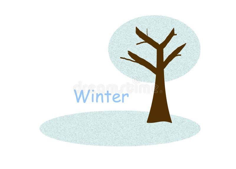 冬天结构树 皇族释放例证