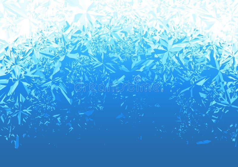 冬天蓝色冰霜背景 向量例证