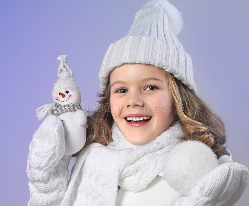 冬天衣裳的女孩 库存图片